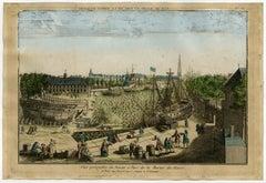 Vue perspective du Bassin et Parc de la Marine du Havre.