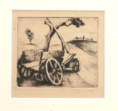 Wagon - Original Etching - 1940 ca.