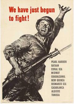 We have just begun to fight!  Original World War 1 vintage poster