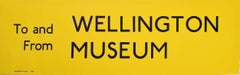 Wellington Museum, London England Routemaster Bus sign c. 1970 transport poster