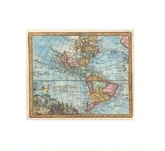 Western Hemisphere Map with California as an Island