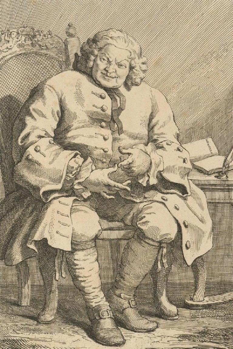 Unknown Portrait Print - William Hogarth (1697-1764) - c.1775 Engraving, Simon, Lord Lovat