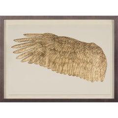 Wings of Love, left wing, gold leaf, framed