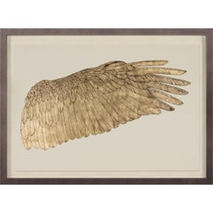 Wings of Love, right wing, gold leaf, framed