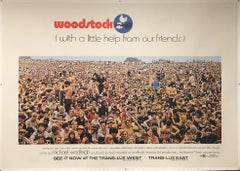 WOODSTOCK RARE FILM POSTER - CROWD SCENE - 50 YEARS OLD THIS SUMMER