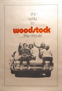 WOODSTOCK - TEASER MOVIE POSTER - FLOWER POWER - MUSIC - DRUGS -