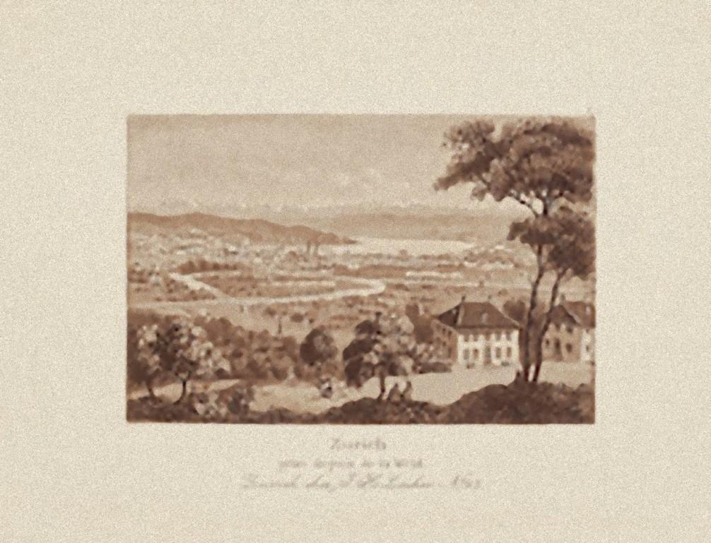 Zurich Landscape - Original Etching on Paper - 19th Century