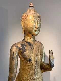 17th-century gilt Buddha, Thailand