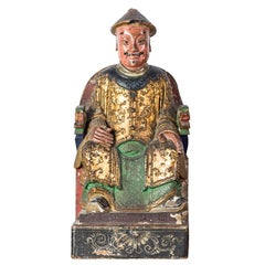 18th century Chinese painted terracotta table sculpture - China - Rococo Italy