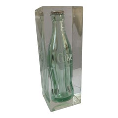 1970's Pop Art Coke Lucite Sculpture