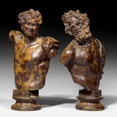 19th Century Italian Bonze Sculpture of Representing the Young and Old as Fauns