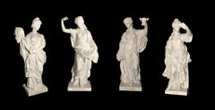19th Century Italian White Marble Statue Emblematic Of The Four Seasons