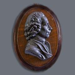 19th Century Metal Wall Plaque Portrait of Joseph Priestley