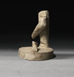 19th Century Roman White Marble Lifesize Fragment Torso Sculpture Legs and Feet