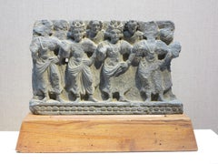 2nd-century Gandharan Attendants of The Buddha relief sculpture