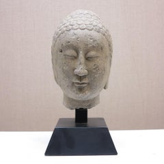 6th-century Northern Qi Dynasty Head of Buddha Chinese Bust Sculpture