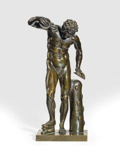 A Grand Tour Bronze model of a Dancing Faun