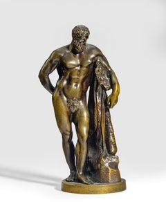 A Grand Tour bronze model of 'The Farnese Hercules', After the Antique