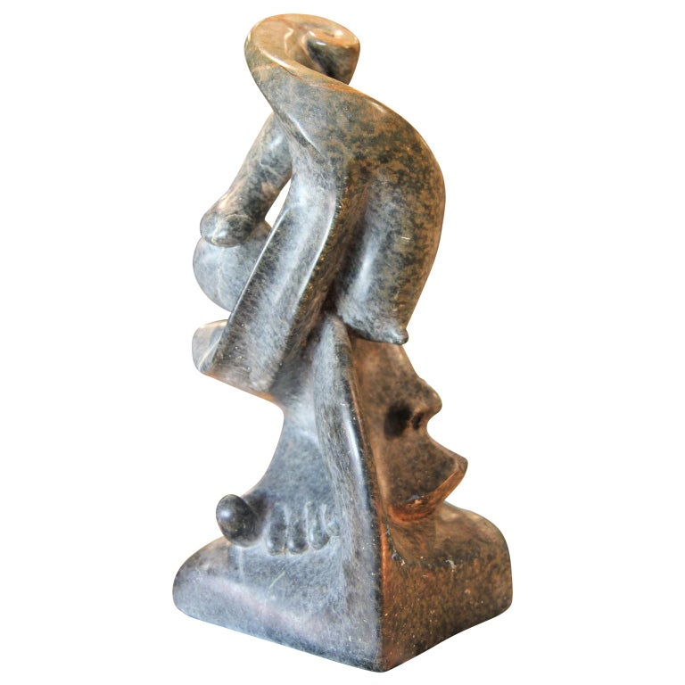 Abstract Figurative Marble Scuplture Signed Mario C: G: - Sculpture by Unknown