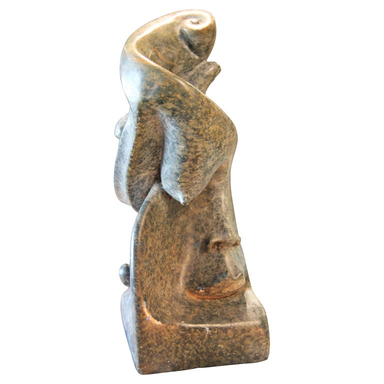 Abstract Figurative Marble Scuplture Signed Mario C: G: For Sale 2
