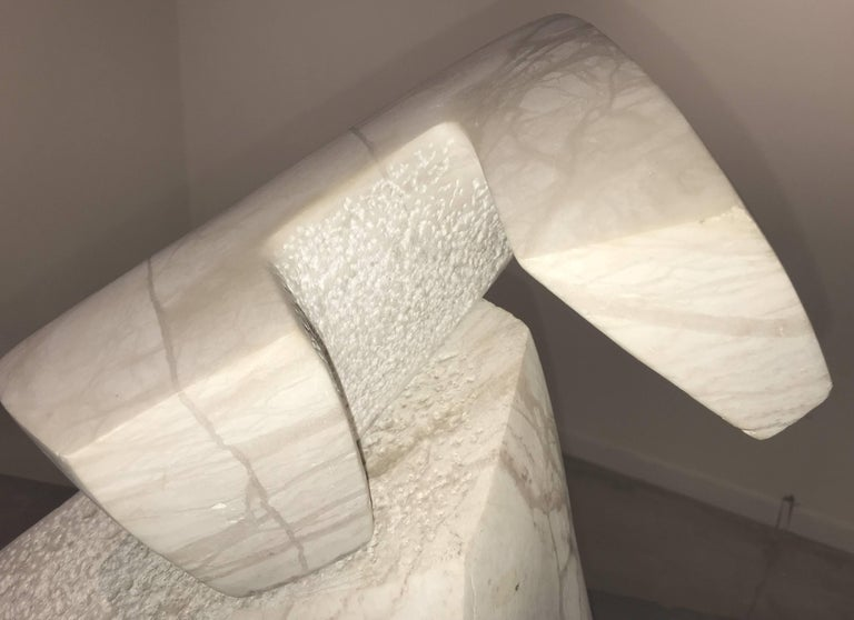Abstract Marble Sculpture on Granite Plinth For Sale 2