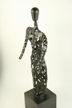 Abstract Metal Band Figural Sculpture