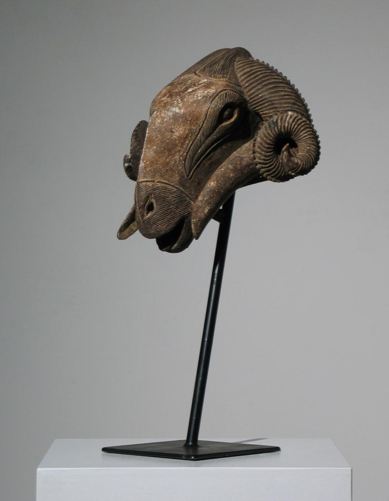 African Baule Ram Mask For Sale 8