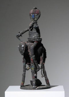 African Yoruba Beaded Horse and Rider