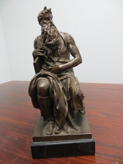 After Michel Ange. Moses holding the Book of the Law, bronze