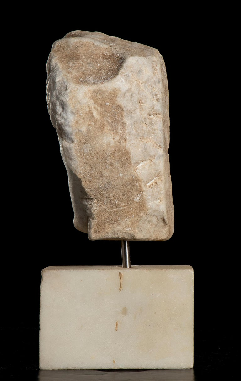 After the Antique White Statuary Marble Sculpture of Hecate  For Sale 3