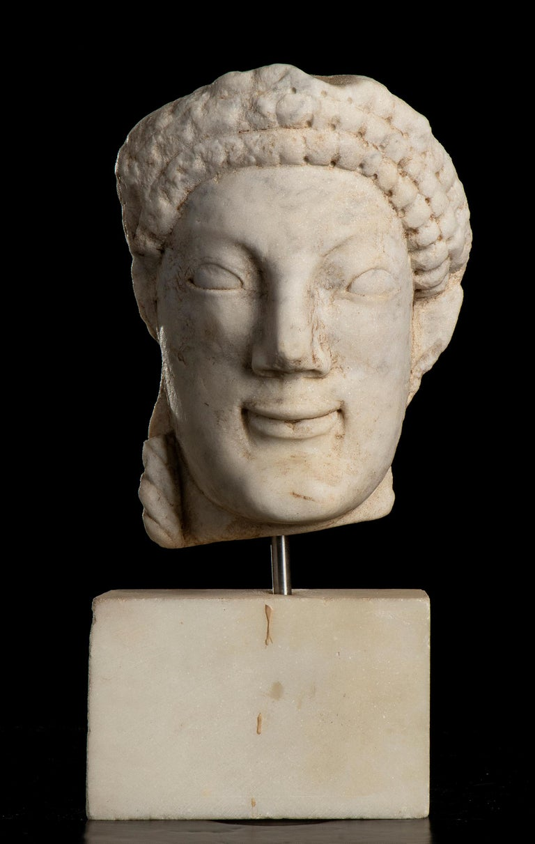 Unknown Figurative Sculpture - After the Antique White Statuary Marble Sculpture of Hecate