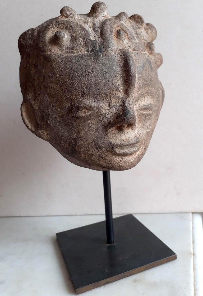 Akan Ashanti Memorial Portrait Head of a Noble Tribal African Art Sculpture  For Sale 4
