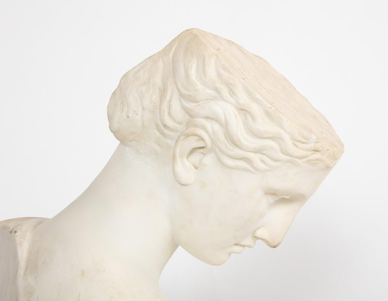 An Antique Italian Neoclassical Marble Bust of Psyche, by Giuseppe Carnevale For Sale 10