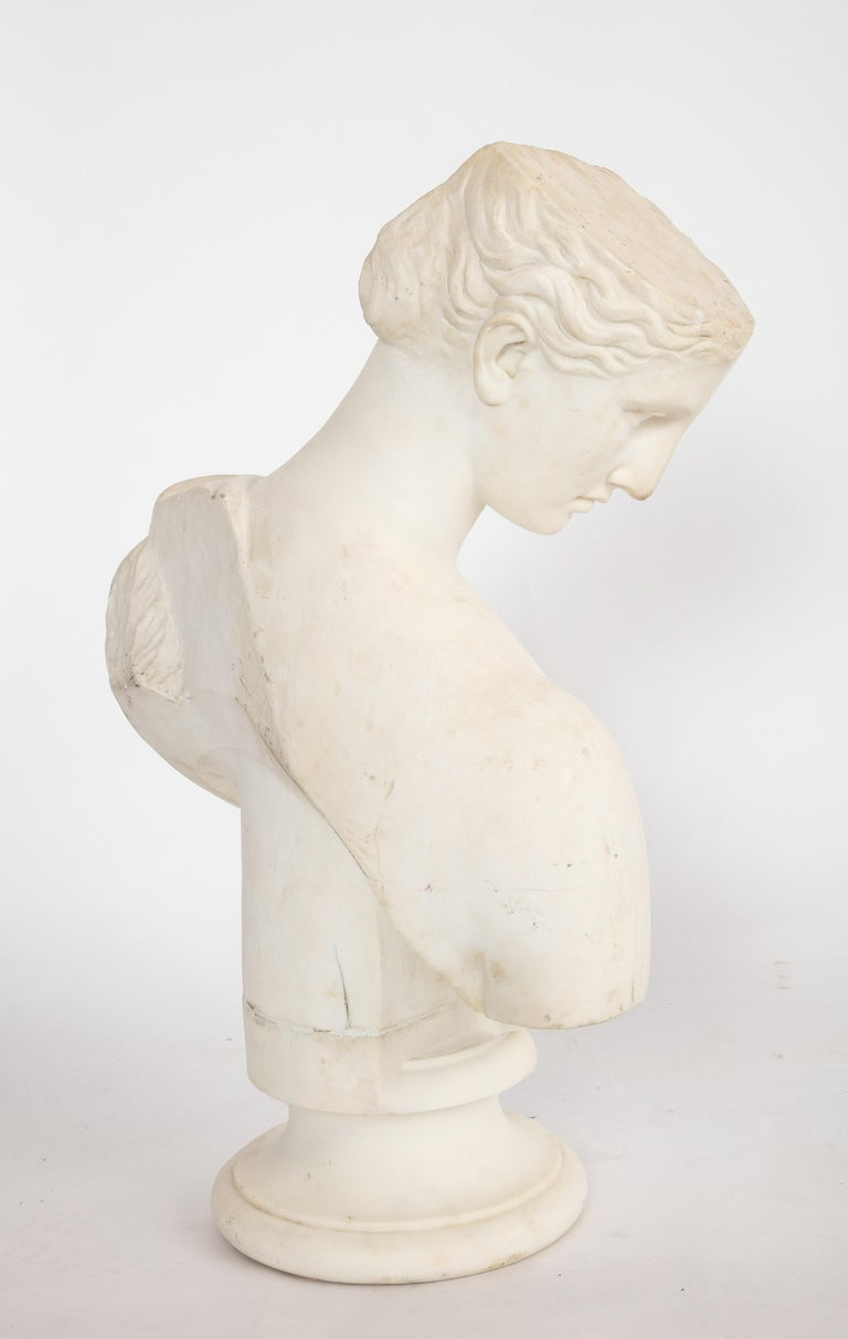 An Antique Italian Neoclassical Marble Bust of Psyche, by Giuseppe Carnevale For Sale 11