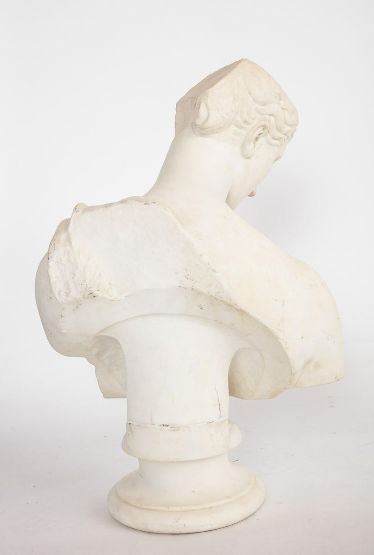 An Antique Italian Neoclassical Marble Bust of Psyche, by Giuseppe Carnevale For Sale 12