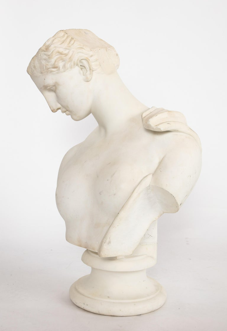An Antique Italian Neoclassical Marble Bust of Psyche, by Giuseppe Carnevale For Sale 15