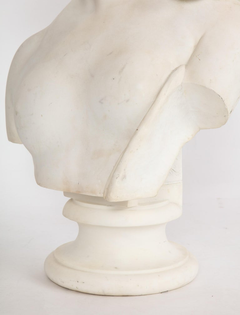 An Antique Italian Neoclassical Marble Bust of Psyche, by Giuseppe Carnevale For Sale 2