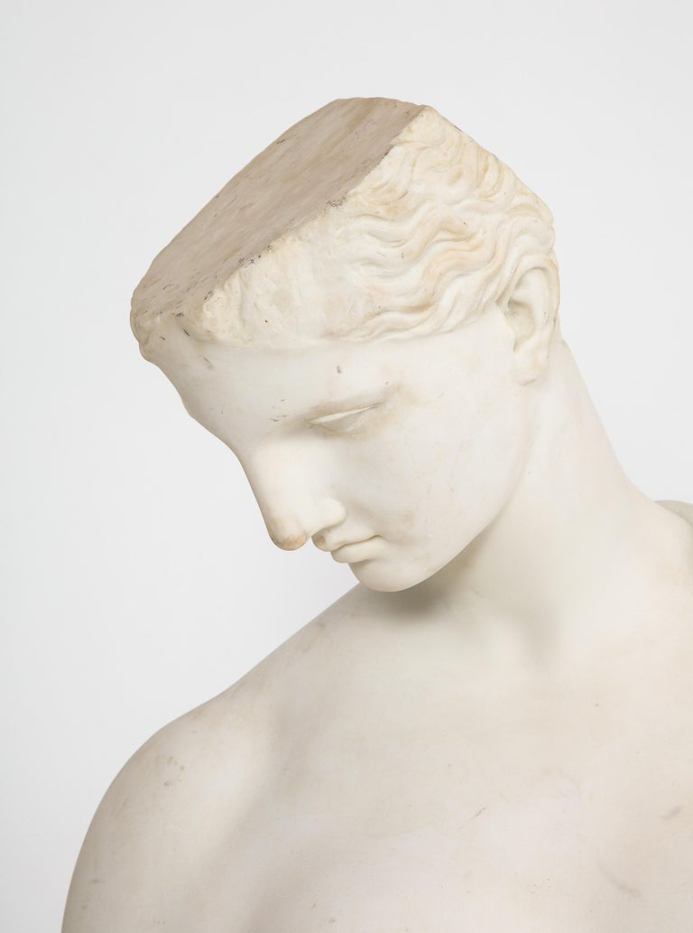 An Antique Italian Neoclassical Marble Bust of Psyche, by Giuseppe Carnevale For Sale 4