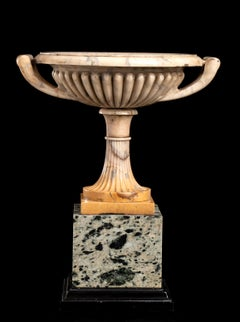Italian Sculpture Giallo Antico Marble Tazza in The Manner of Boschetti Workshop