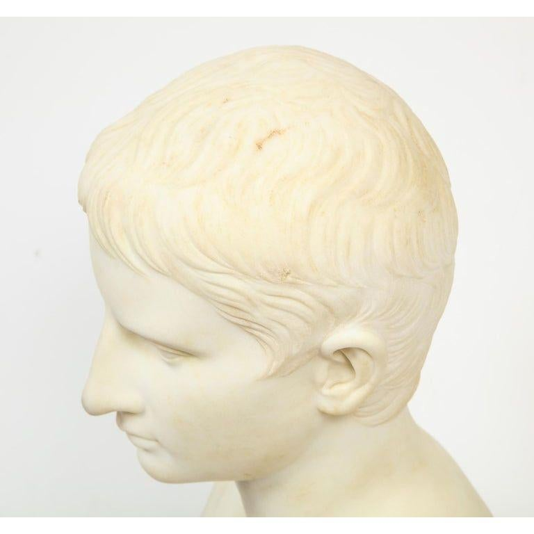 An Italian White Marble Figural Bust of Augustus Caesar, Rome, circa 1875 For Sale 6