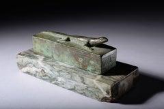 Ancient Egyptian Bronze Lizard Sarcophagus