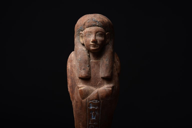Ancient Egyptian New Kingdom Shabti for Iweferbaku - Brown Figurative Sculpture by Unknown