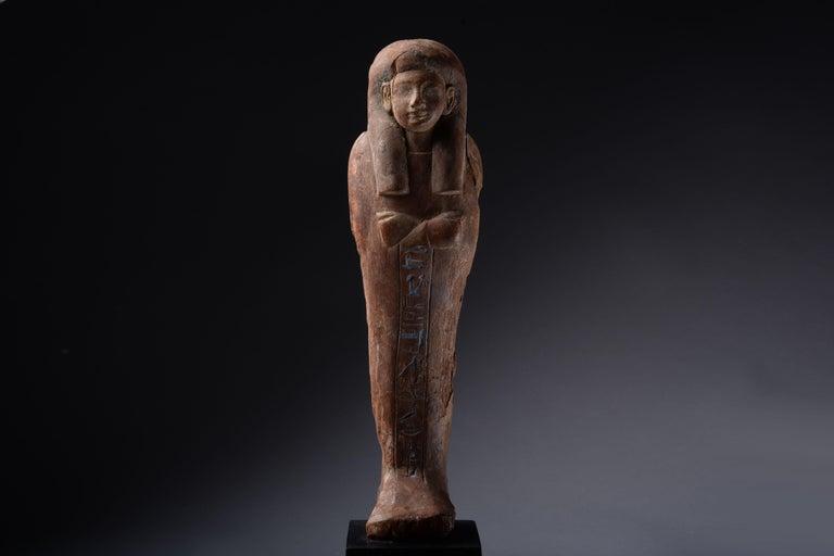 Ancient Egyptian New Kingdom Shabti for Iweferbaku For Sale 1