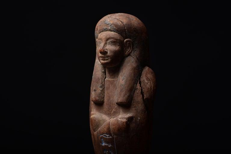 Ancient Egyptian New Kingdom Shabti for Iweferbaku For Sale 2