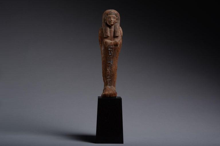 Unknown Figurative Sculpture - Ancient Egyptian New Kingdom Shabti for Iweferbaku