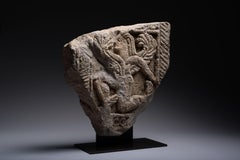 Ancient Etruscan Stone Relief of a Winged God - 600 BC