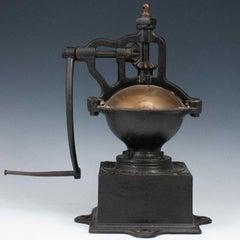 Antique, 19th C. Peugeot Frères Brevetés French Coffee Grinder Table Sculpture