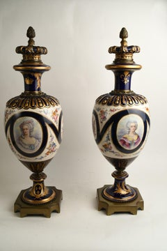 Antique Pair Sevres Porcelain