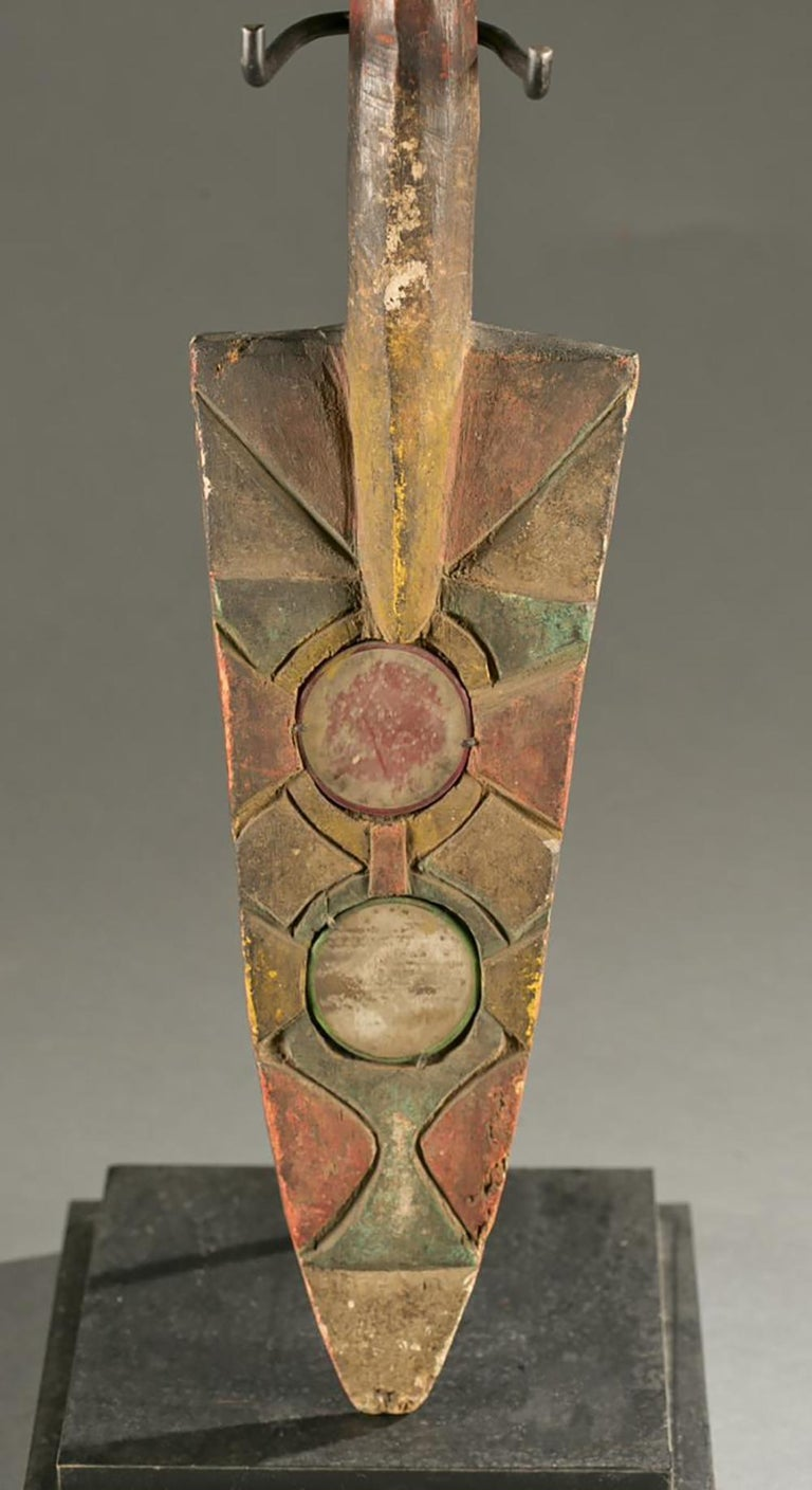 Antique Polychrome Wood Carving Igbo Nigeria For Sale 2