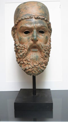 Archaic Bronze Bust of Zeus